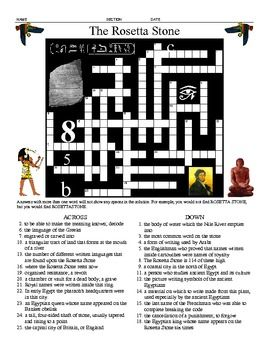 the rosetta stone five printable worksheets crossword and pictures the o 39 jays worksheets. Black Bedroom Furniture Sets. Home Design Ideas
