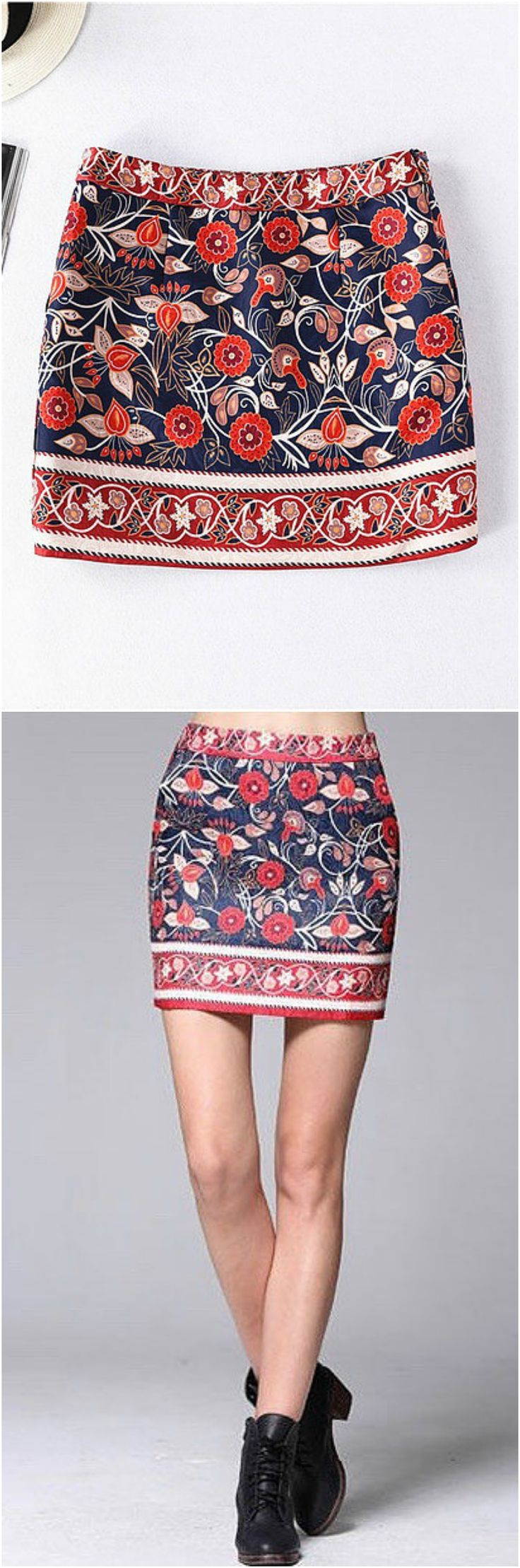 $42 - A Batik Floral Skirt from Pasaboho. This skirt exhibits brilliant colours with unique printed patterns. We Love boho style and embroidery stitches. Free Spirit hippie girls sharing woman outfit ideas. bohemian clothes, cute dresses and skirts.  Fashion trend and styles from hippie chic, modern vintage, gypsy style, boho chic, hmong ethnic, street style, geometric and floral outfits.