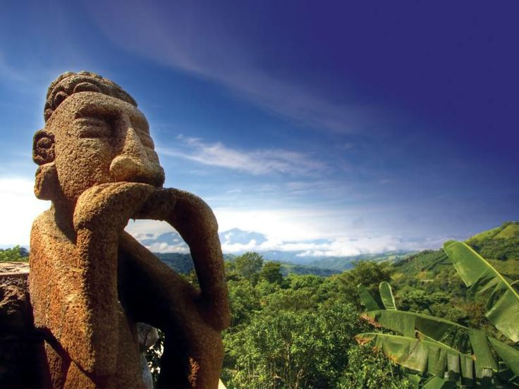 A famous stone statue in lush Costa Rica - a must see on a ...