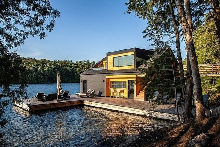 plans floating wooden house Floating Lake House in Upstate New York by Altius Architecture  http://stevemartinrealestate.wordpress.com/