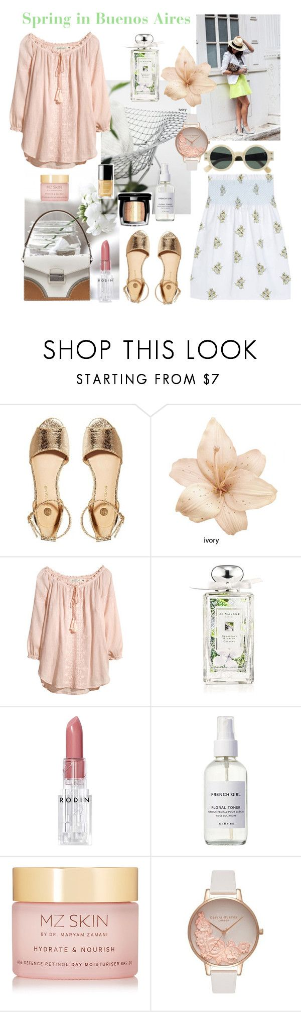 """Spring in Buenos Aires"" by nathalie-puex ❤ liked on Polyvore featuring Miu Miu, River Island, H&M, Chanel, Jo Malone, Rodin, French Girl, MZ Skin and Olivia Burton"