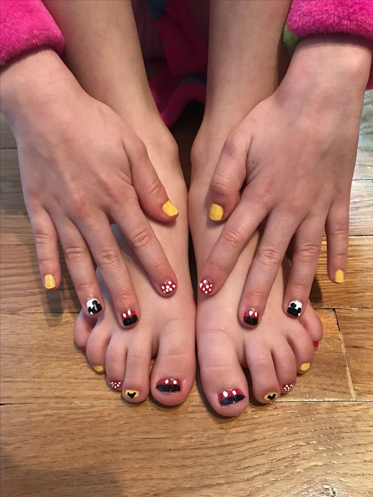 #kids #nails #manicure #pedicure #disney #mickeymouse #mickey