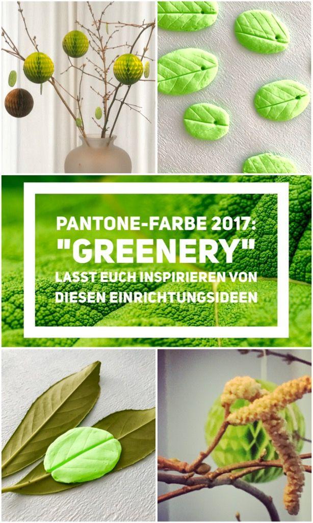 Frühlingsdeko in der neuen Trendfarbe Pantone Greenery, einfach selbst gemacht