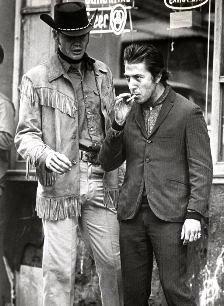 Ratso / Joe Buck. On the streets of New York. Midnight Cowboy. '69. Jon Voight and Dustin Hoffman