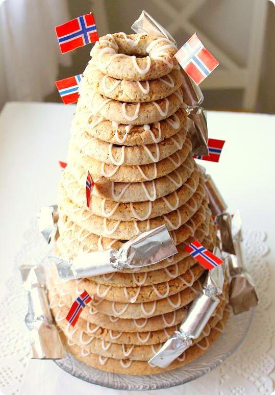 kransekake, the national cake of Norway #Norway ☮k☮ #Norge