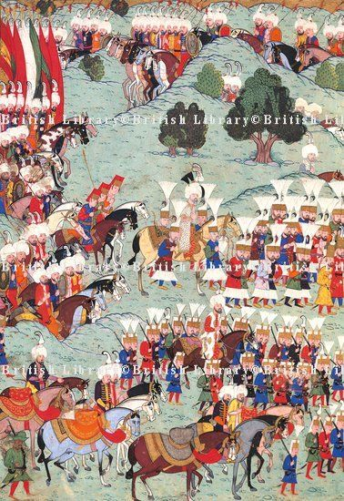 Ottoman troops moving towards Vienna-1529