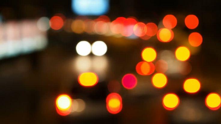 Traffic Jam With Bokeh Lights - Fast Forward Version Stok Video Klip 8196202 - Shutterstock