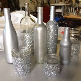 Love Lenore Wedding Centerpiece DIY Silver CenterpiecesWine Glass Bottle Christmas