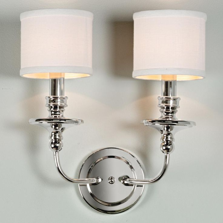 LIVING-ROOM SCONCES ABOVE FIREPLACE. Springfield Sconce with Linen Drum Shades 2 LT - 3 finishes!