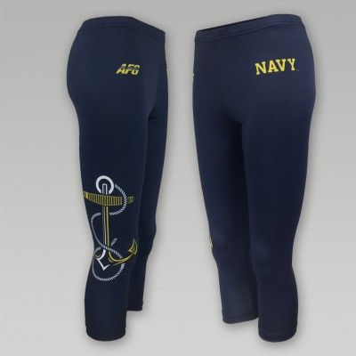NAVY ANCHOR LADIES CAPRI