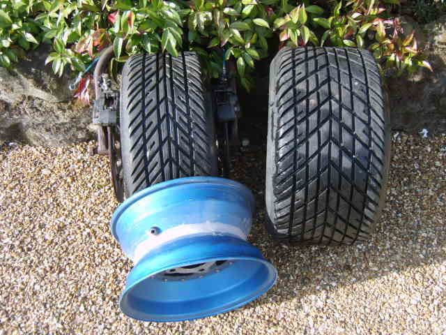 f1 and f2 road racing sidecar wheels and tyres and brake system and fork bottom