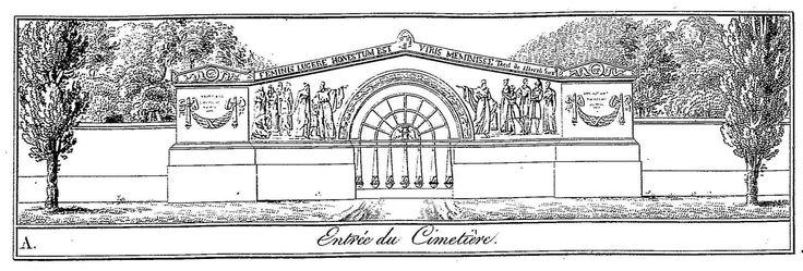 Brongniart - Plans du Palais de la Bourse de Paris et du cimetière Mont-Louis