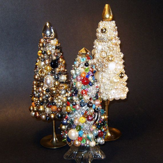 Jewel Christmas Tree Decorations: 842 Best Images About Jewelry Trees On Pinterest