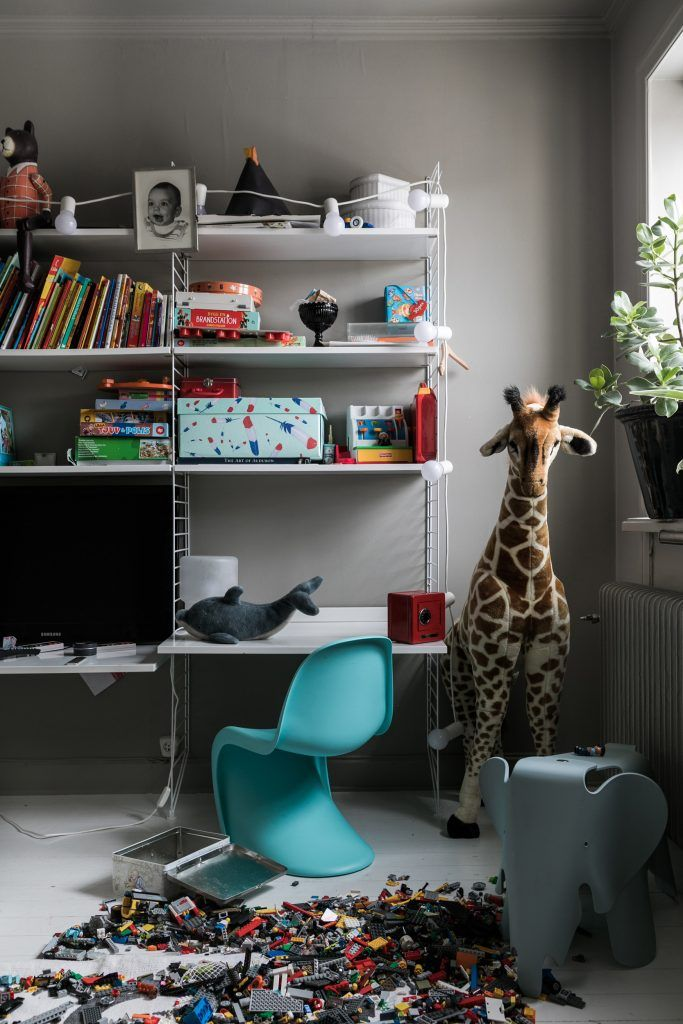 From our article series 'In bed with' visit the home of designer Nina Kullberg. Their kids room.