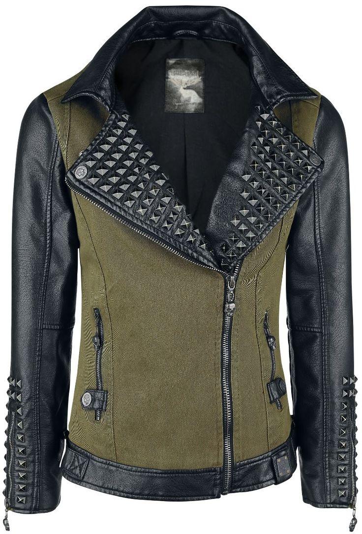 Studded Ladies Biker Jacket