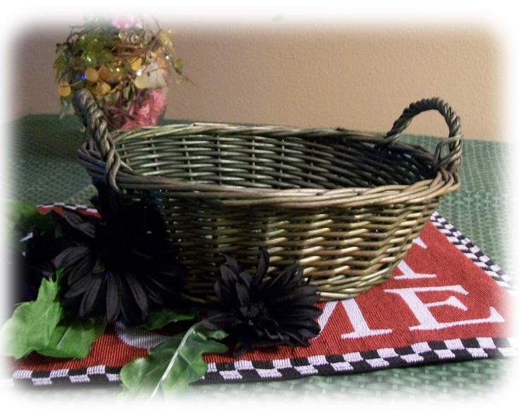 Dark Wicker Baskets With Handles : Best images about wicker baskets with handles on