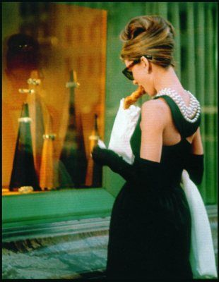 Breakfast At Tiffanys. The always fashionable Holly Golightly.