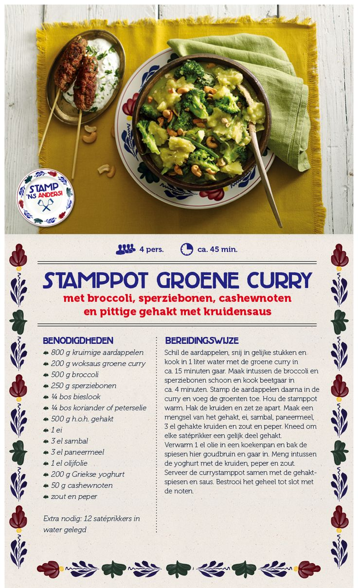 Stamppot groene curry