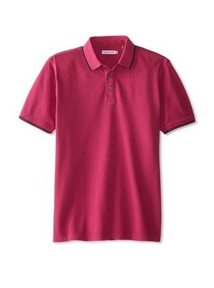 75% OFF Alex Cannon Men's Washed Short Sleeve Pique Polo (Very Berry)