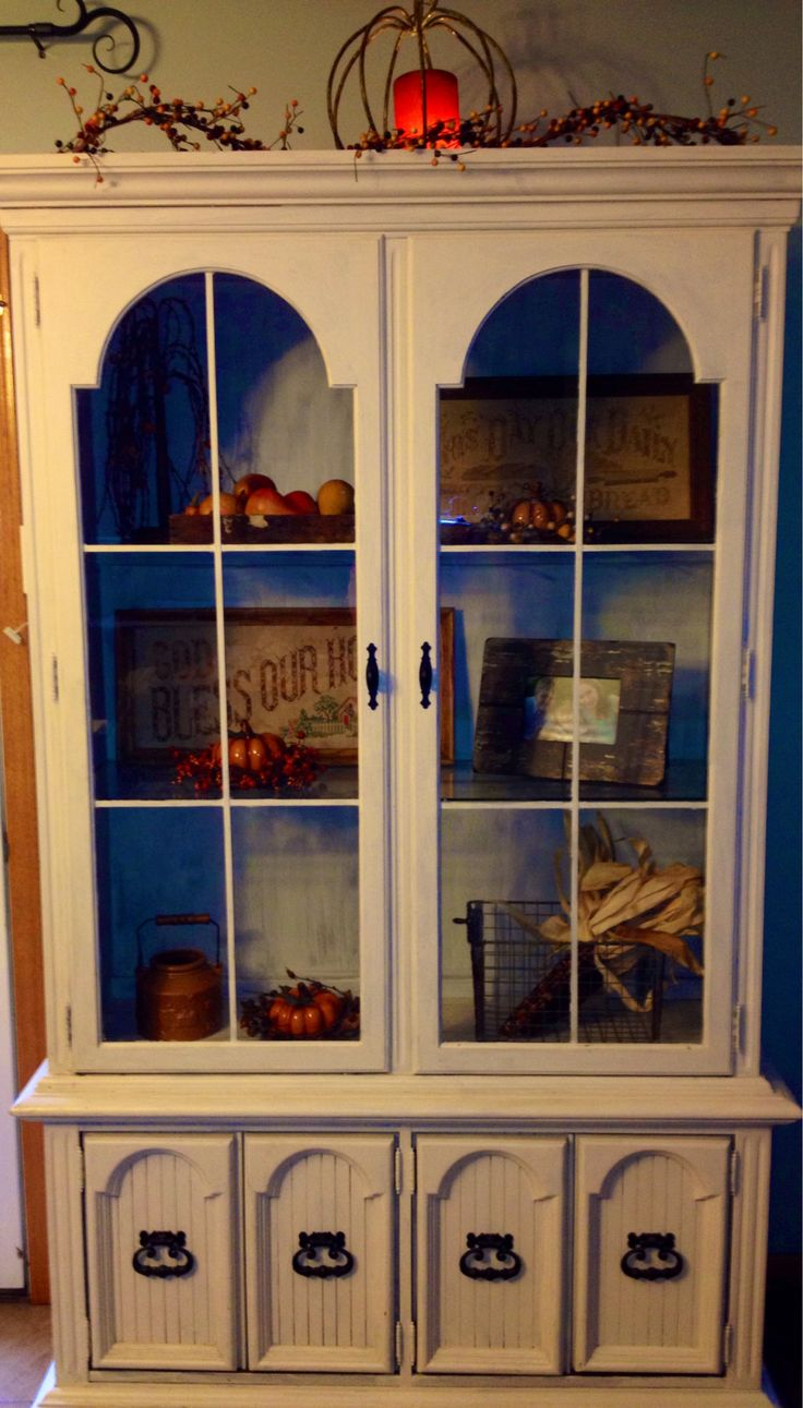 fall decor china cabinet china cabinet decor in and. Black Bedroom Furniture Sets. Home Design Ideas