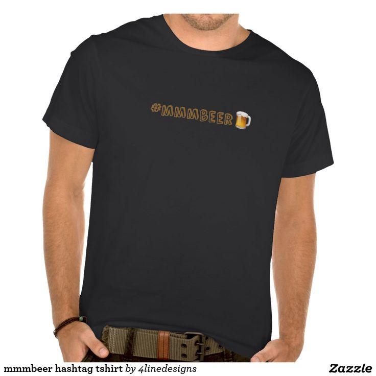mmmbeer hashtag tshirt