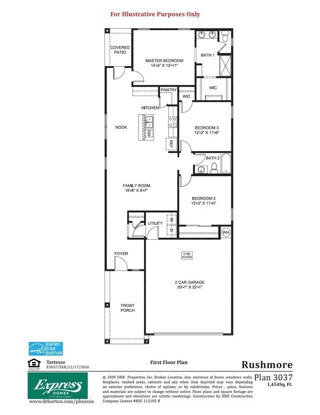 Www Drhorton Com Arizona Phoenix Buckeye Express Tartesso Rushmore Pintrest 1 Floor Plans House Under Construction Small House Plans