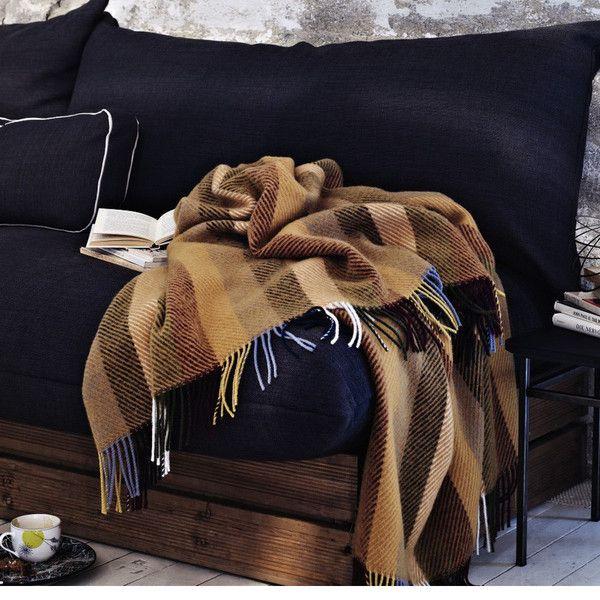 The Glåmos Fringed Norwegian Wool Blanket by Røros Tweed $325 from @Lufina Wovens