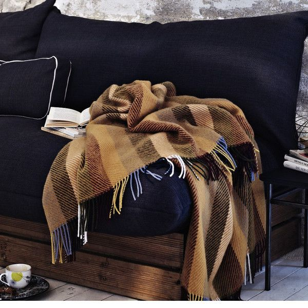 The Glåmos Fringed Norwegian Wool Blanket by Røros Tweed $325 from @Lufina Wovens