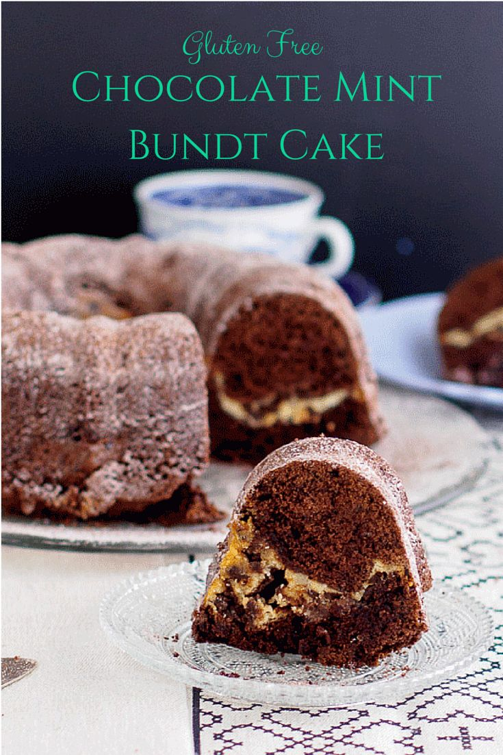 Gluten Free Chocolate Mint Bundt Cake