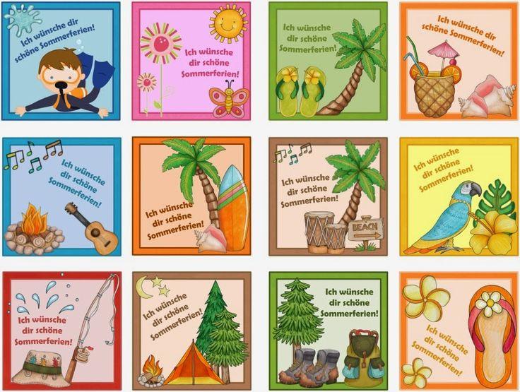 Ideenreise: Kleine Ku00e4rtchen fu00fcr die Sommerferien (Gastmaterial... : witzige Vorlagen : Pinterest ...
