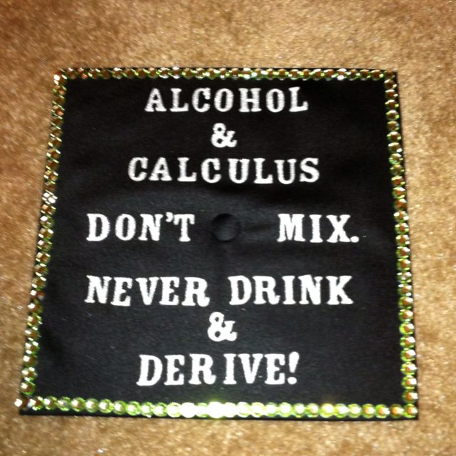 I made this cap for my college graduation for a BA in math. :)