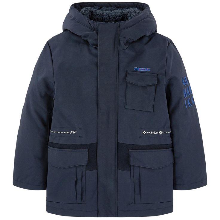Synthetic fabric   Synthetic lining Synthetic padding Synthetic inside jacket Warm item Waterproof item 2 in 1 item Straight fit Large hood Long sleeves Flap pockets Removable jacket Zipper under a snap strap Embroidered brand Print - £ 134