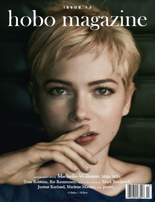 Hobo Magazine (Brooklyn, NY, USA): Hobo Magazine, Hairstyles, Hair Styles, Magazines, Michellewilliams, Michelle Williams, Pixie Cut