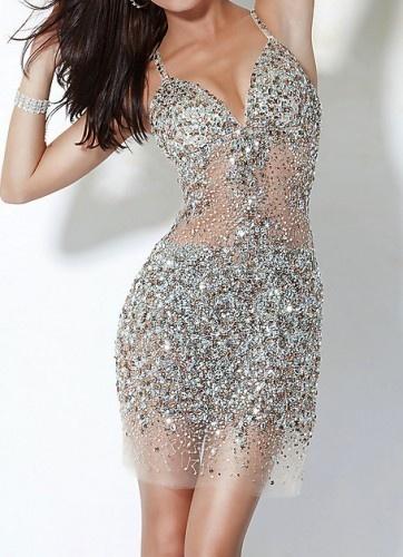 Sparkle silver dress