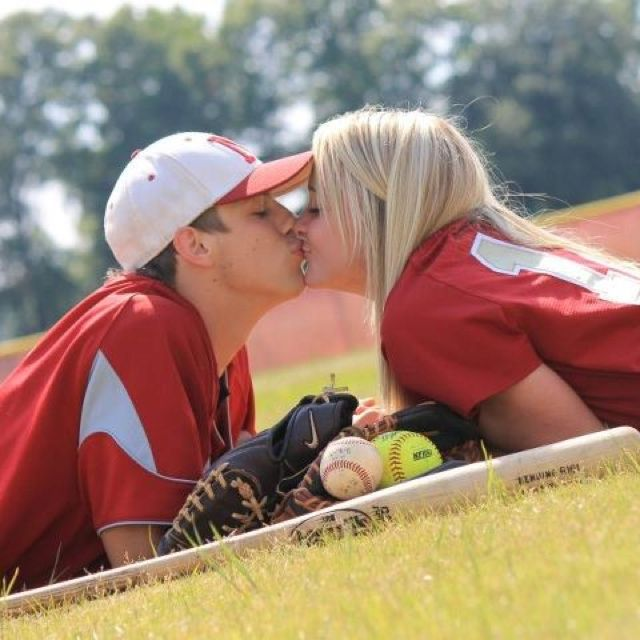 cute engagement picture idea :-)  Cubs/sox jerseys would be awesome lol                                                                                                                                                                                 More