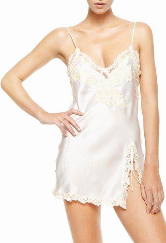 Sottoveste di raso di seta e pizzo La Perla | Intimo da sposa #Promise #lingerie