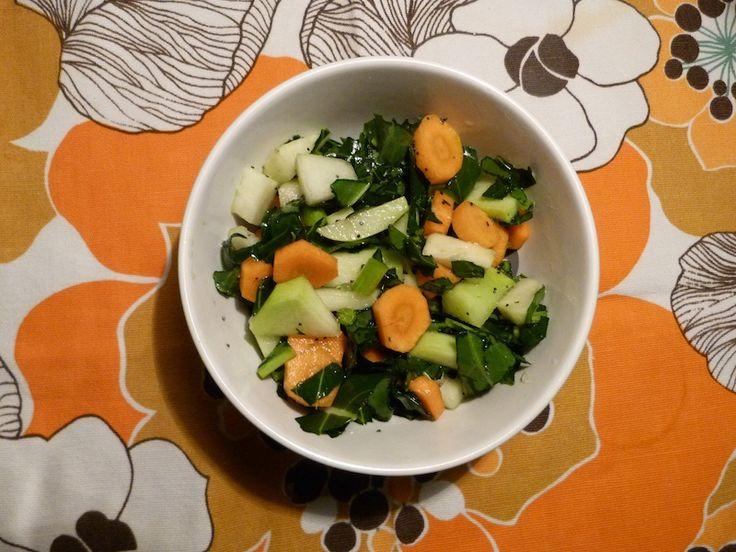 Salada de cenoura com couve-rábano