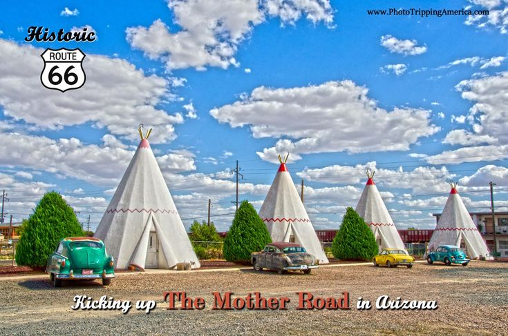 You can still stay at the Wigwam Motel along Route 66!  (Aren't those teepees?) #Route66 #GetYourKicks #PhotoTrippingAmerica
