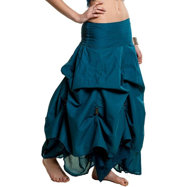 Steampunk Skirt Draped Skirt Flamenco Skirt Gypsie Skirt Rouched Skirt... ($76) ❤ liked on Polyvore featuring skirts, steampunk, teal, women's clothing, long skirts, blue neck tie, ruffle maxi skirt, teal maxi skirt and teal tie