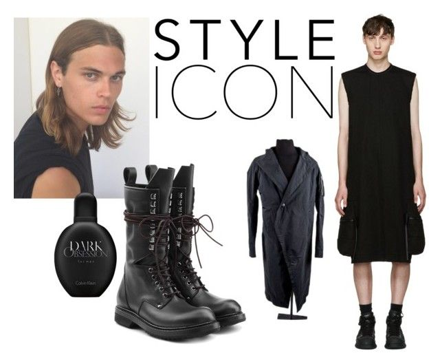 """rick owens 22dassa"" by oliver-heng on Polyvore featuring Rick Owens, Calvin Klein, men's fashion and menswear"