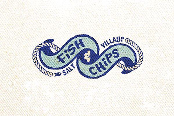 Unique Logo Design, Salt Village Fish & Chips #Logo #Design (http://www.pinterest.com/aldenchong/)