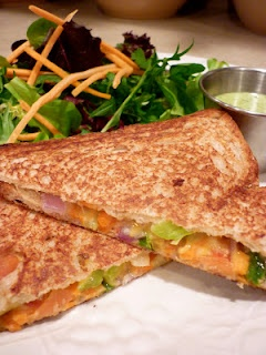 Southwestern Veggie & Cheese Panini...a grown up grilled cheese!