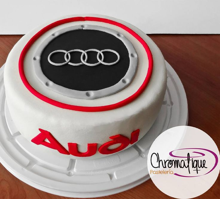 Audi logo cake (Torta del logo de Audi) https://www.facebook.com/ChromatiquePasteleria