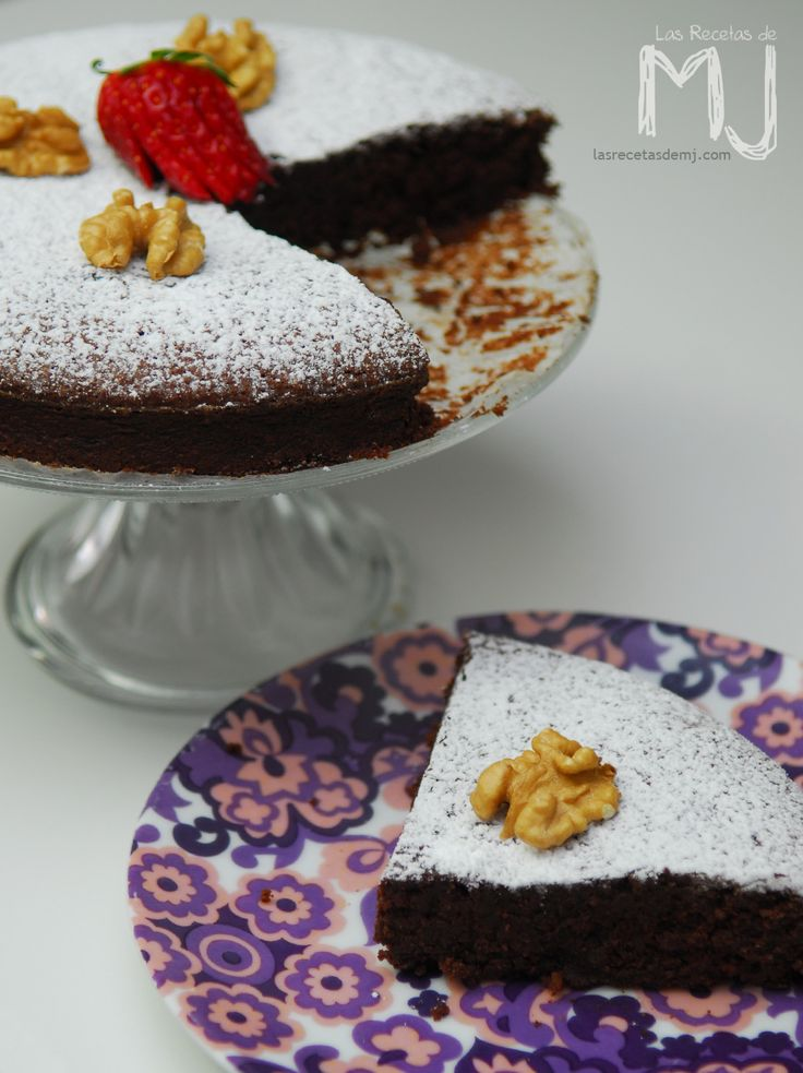 Tarta de nueces y chocolate (sin gluten, sin lactosa) | Videoreceta