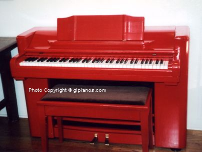 This is the one! We've been looking for a small piano in a pop color! And a wurlitzer! Getting it in the house is another story.