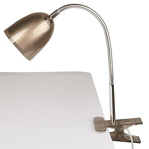Clearance! 5 W Flexible & Swivel Neck Clip On Eye Protection Led Table Desk Lamp Reading Light- Usb Light, Bbq Grill Light (Brown)  Desk lamp is a great way to provide light at your desk. With a handy clamp, they can be attached to your desk, shelf or headboard giving you the ultimate lighting precision. LED bulbs are environmentally friendly as they are considerably more energy efficient than traditional bulbs. The good news is that led bulbs are included, so when you get this product...