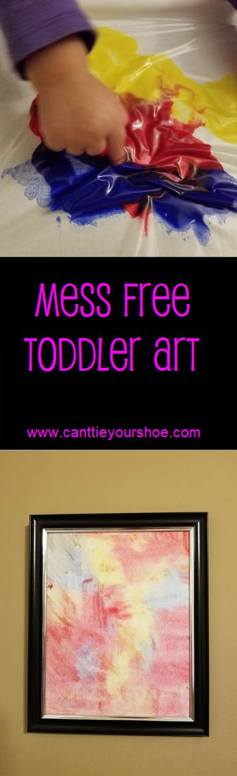 create mess free art with your toddler