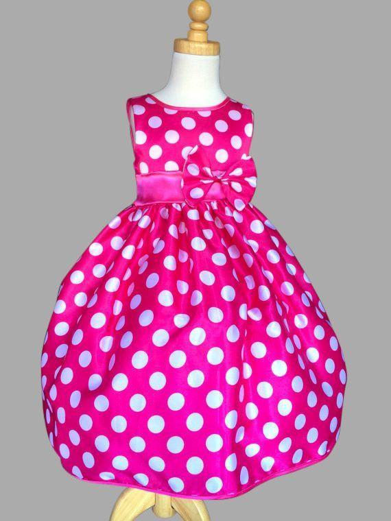 Minnie Mouse Inspired Polka Dot Satin Elegant Disney Costume Toddler Girl Dress