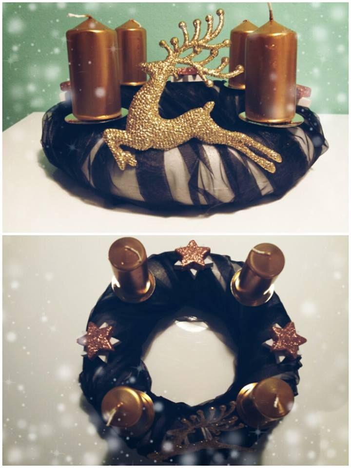 """Adventní věnec """"Černá vdova""""  (Advent wreath """"Black widow"""")"""