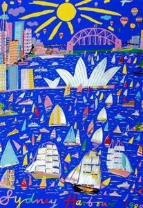"Ken Done's painting of Sydney Harbour 1988 was the first ""famous"" Australian artwork that I was ever exposed to - I love the bright colours and how the sun features in the sky."